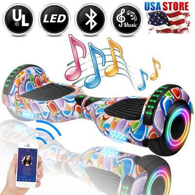6.5 Bluetooth Hover board LED Hoverboard Self-Balancing Scooter UL Coloful Bag