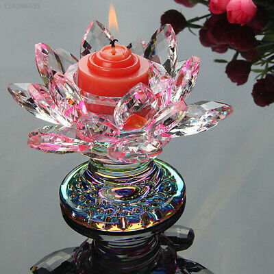 993A Glass Lotus Candlestick Butter Lamp Decoration Crafts Ornament European