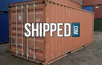 WE DELIVER in DETROIT, MI USED 20FT SHIPPING CONTAINER for HOME BUSINESS STORAGE