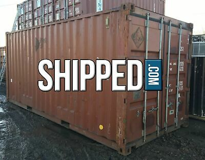 DEAL! USED 20' SHIPPING CONTAINER for HOME & BUSINESS STORAGE in KANSAS CITY, KS