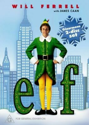 Elf-Dvd-2 Disc Set-Christmas Movie-Will Ferrell-2004-Free Shipping In Canada