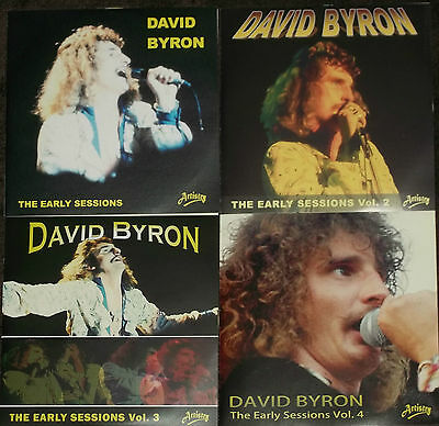 DAVID BYRON ex URIAH HEEP THE EARLY SESSIONS MASTERS Volumes 1, 2, 3 & 4 - NEW