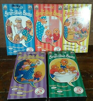 Lot of 5 VHS Tapes Kids Videos Movies Berenstain Bears Forget Their Manners More