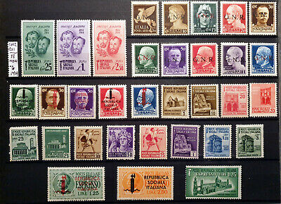 Italy Regno Gnr Rsi - 33 Stamps New Mh*