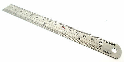 "Stainless steel ruler 6"" 150mm straight edge rule measuring TZ MS099"