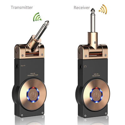 Getaria 2.4GHZ Wireless Guitar System Rechargeable Digital Transmitter Receiver