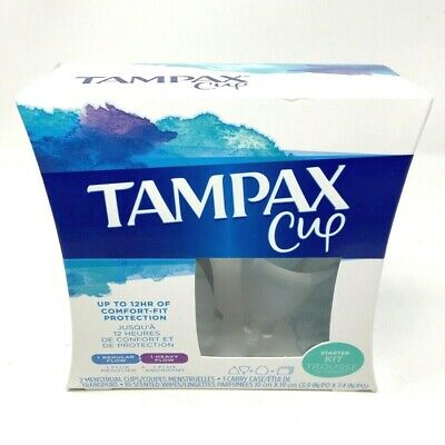 Tampax Menstrual Cup Starter Kit Up To 12 Hours Of Comfort-Fit protection