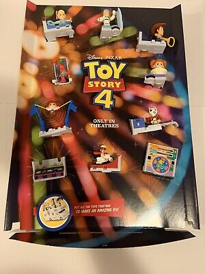 Official McDonald's TOY STORY 4 HAPPY MEAL Store Display Complete Set * READ*