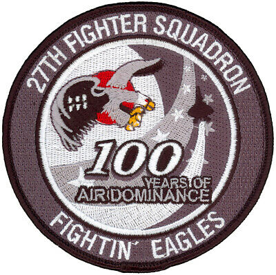USAF 27th FIGHTER SQUADRON 100th ANNIVERSARY PATCH
