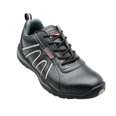 Womens Black Safety Trainers Lace Up Sports Shoes black size 4 EU 37 Brand New