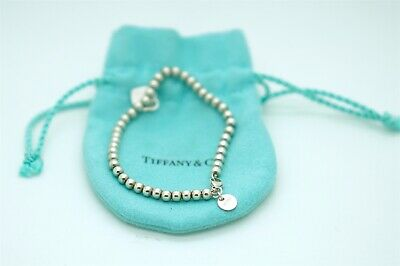 e857bcc23037c AUTHENTIC TIFFANY AND Co. Sterling Silver Mini Bead Bracelet with ...