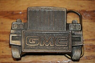 VIntage GMC Trucking Belt Buckle Made in the U.S.A. by Great American Buckle Co.
