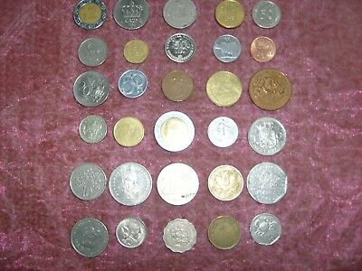 Bundle Of Mixed Foreign Coins 30 In Total Post Free