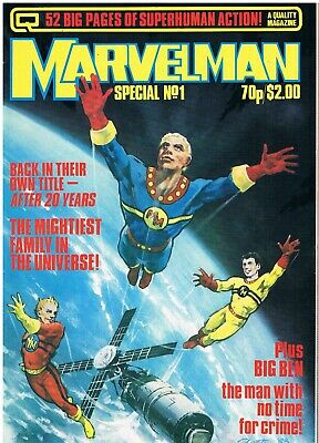 MARVELMAN SPECIAL No.1: 1984: BRITISH COMIC: QUALITY COMMUNICATIONS: MICK ANGLO