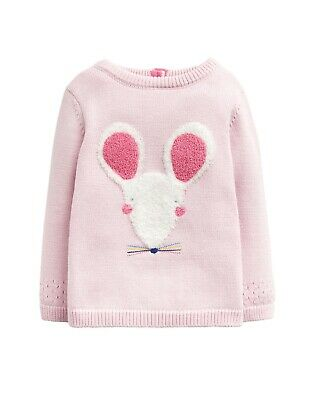 JOULES Tom Joule Pullover in pink mit Maus Gr. 56 - 92 NEU