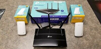 TP-Link Archer A7 AC1750 Gigabit Wireless Router with 2 TP-Link AC750