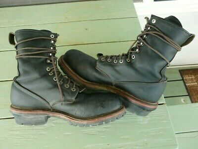eaeb725a6cf 100% AUTHENTIC RED Wing 2218 Steel Toe Logger Leather Work Boots ...