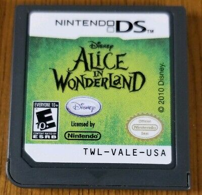 Alice in Wonderland (Nintendo DS, 2010) Game Only