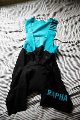rapha pro team bibs ii cycling bib shorts tights black blue size small brand new