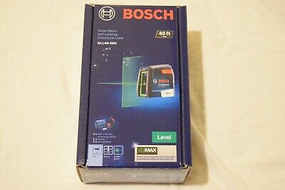NEW -  Bosch GLL40-20G Green-Beam Self-Leveling Cross-Line Laser *FAST SHIPPING*