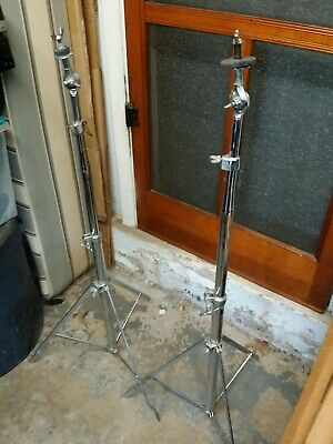 2 VINTAGE LUDWIG ATLAS CYMBAL STANDS 1970s