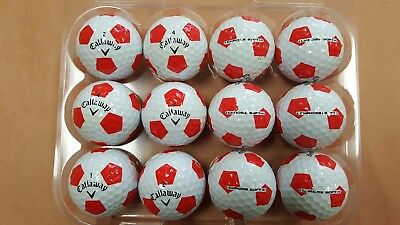 12 Used AAAAA/MINT Condition Callaway Chrome Soft Truvis Red Golf Balls