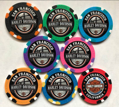 San Francisco Harley Davidson NEW STYLE Full Color Collectible Poker Chip