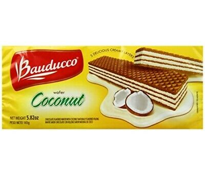 Bauducco coconut  wafers 3 delicious layers  /  *** wow *** vegan friendly ***
