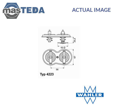 Wahler Engine Coolant Thermostat 422383D I New Oe Replacement