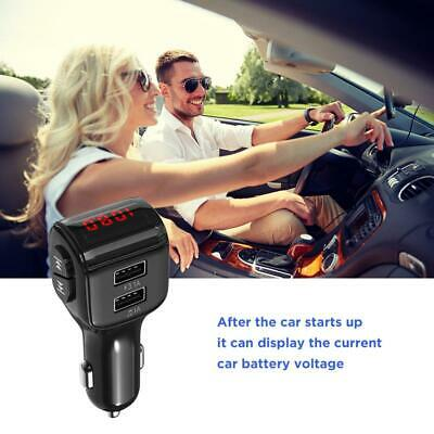 Car Wireless Bluetooth Kit FM Transmitter Dual USB Charger Audio MP3 Player US