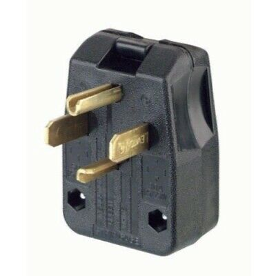 Leviton R50-00275-00T 30/50 Amp Commercial Grade Straight Blade Angle Plug
