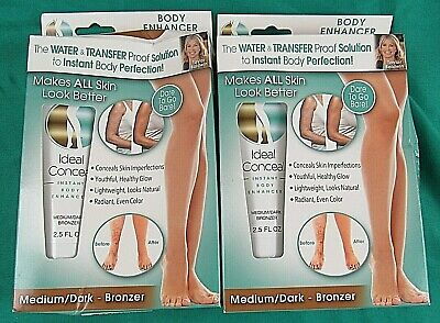 2 Ideal Conceal Body Enhancer Medium/Dark Bronzer 2.5 Fl Oz. Each