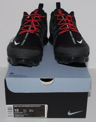 Nike Air Vapormax Run Utility Black Reflect Silver Men's Size 15 (AQ8810-001)