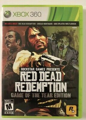 Red Dead Redemption [Game of the Year] (Microsoft Xbox 360, 2011) FREE SHIPPING!