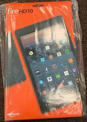 NEW Amazon Kindle Fire HD 10 hands free Alexa 32GB 7th Gen 2017 Black