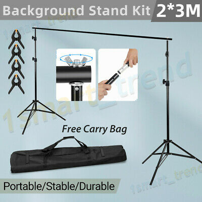 2X2M Studio Light Stand Heavy-Duty Support for Photo Screen Backdrop Background