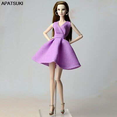 """Purple Classical Doll Dress For 11.5"""" 1/6 Doll Outfits Party Dresses Clothes Toy"""