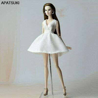 """White Classical Doll Dress For 11.5"""" 1/6 Doll Clothes Party Gown Outfit Kids Toy"""
