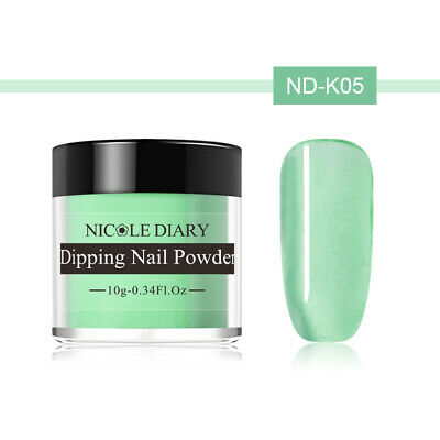 NICOLE DIARY 10g Dipping Powder Natural Dry Pink Glazed Color Nail Art ND-K05