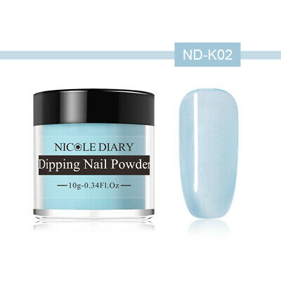 NICOLE DIARY 10g Dipping Powder Natural Dry Pink Glazed Color Nail Art ND-K02