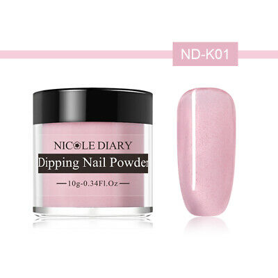 NICOLE DIARY 10g Dipping Powder Natural Dry Pink Glazed Color Nail Art ND-K01