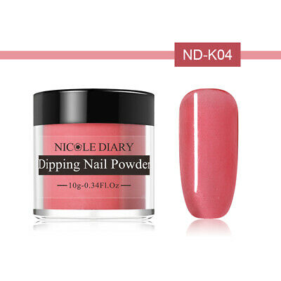NICOLE DIARY 10g Dipping Powder Natural Dry Pink Glazed Color Nail Art ND-K04