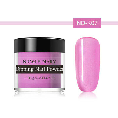 NICOLE DIARY 10g Dipping Powder Natural Dry Pink Glazed Color Nail Art ND-K07