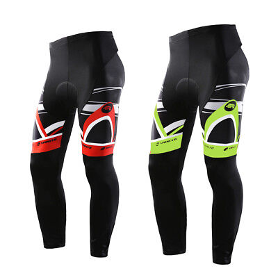 Cycling Pants Men Padded MTB Bike Tights Stretchy Road Cycle Trousers Smooth