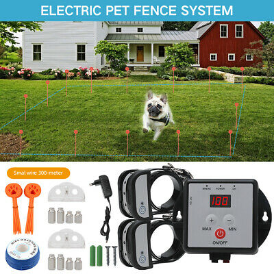 In-Ground Electric Dog Pet Fence Containment System Shock Collars for 1/2/3 Dogs
