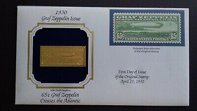 U,S,A Great 22K Gold First Day of Issue Original Stamp as Per Photo..Low Start