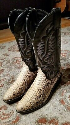 92ddc2b5fb1 MENS SNAKESKIN (PYTHON?) Laredo Western Cowboy Rancher Boots Size 7D ...