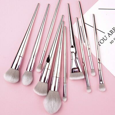10pcs Soft Eyeshadow Makeup Brushes Set Pro Eye Shadow Blending Make Up Brushes