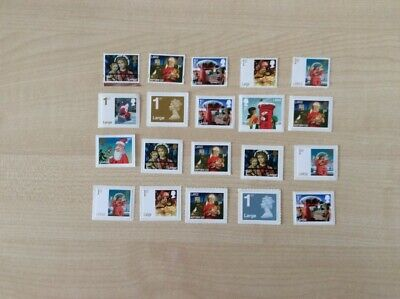 20 FIRST CLASS LARGE UNUSED GENUINE MINT STAMPS AT 90p EACH