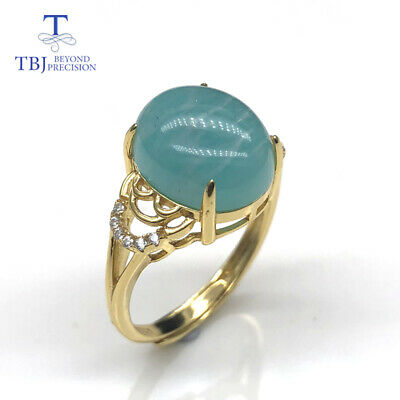 women gemstone ring amazonite and larimar natural colorful  925 sterling silver